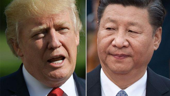 O presidente dos Estados Unidos, Donald Trump, e o presidente da China Xi Jinping