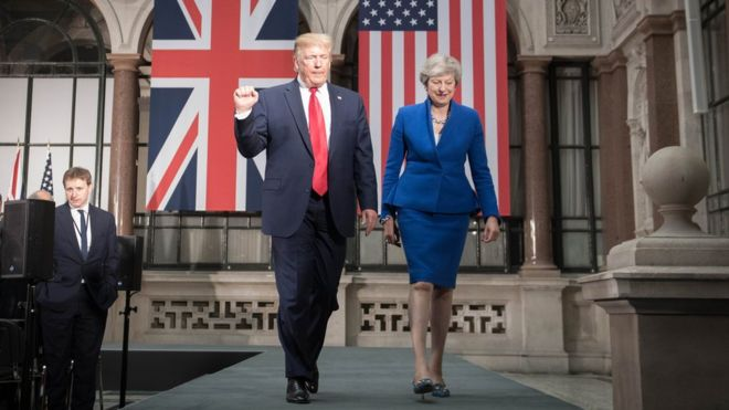 Trump and May leave their joint news conference