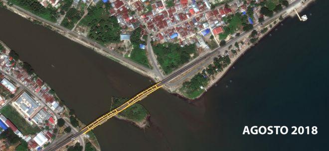 El puente de Jemalam antes del tsunami