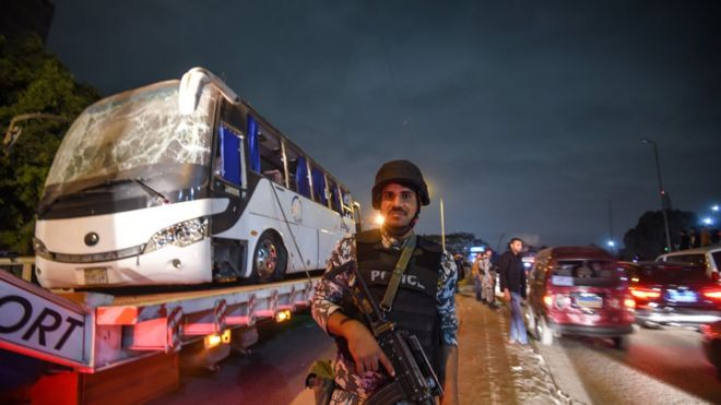 Image result for Egypt police 'kill 40 militants' in raids after tourist bus blast