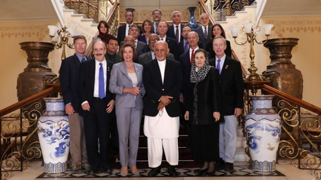 نانسی پلوسی سرزده به افغانستان رفت