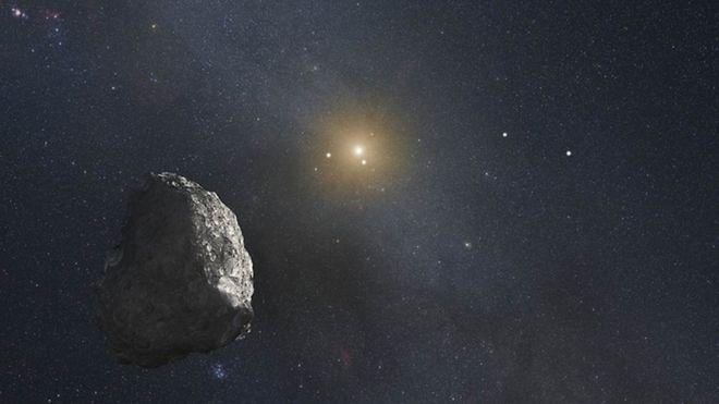 Ilustração de um asteroide do cinturão de Kuiper