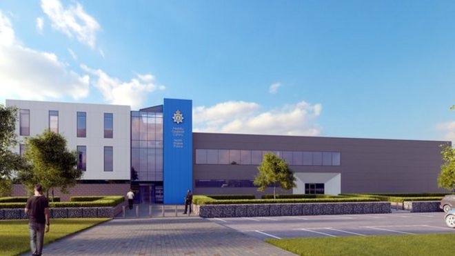 Plans submitted for new 135m wrexham police station bbc news artist impression of police station in wrexham malvernweather Choice Image
