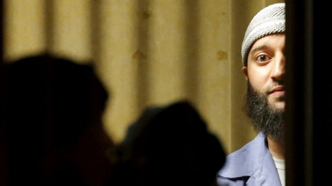 Adnan Syed in court in 2016