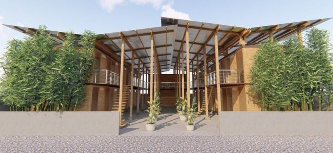 Beau Low Cost U0027four Houru0027 Bamboo House Wins Top Prize   BBC News