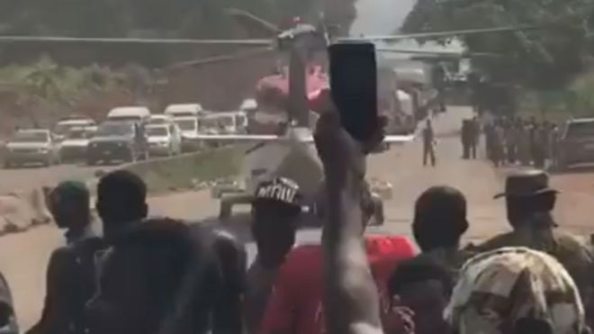 Mara lafiya helikofta ya dauka a Legas' - BBC News Hausa