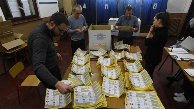 L'Italie à la recherche d'une majorité après es législatives