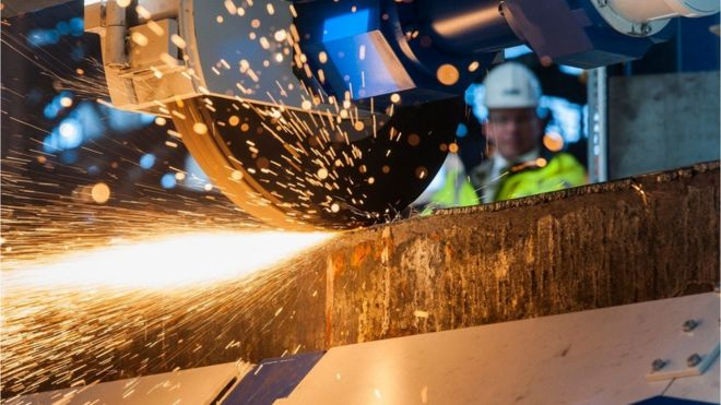 Завод стальных слябов ThyssenKrupp в Германии
