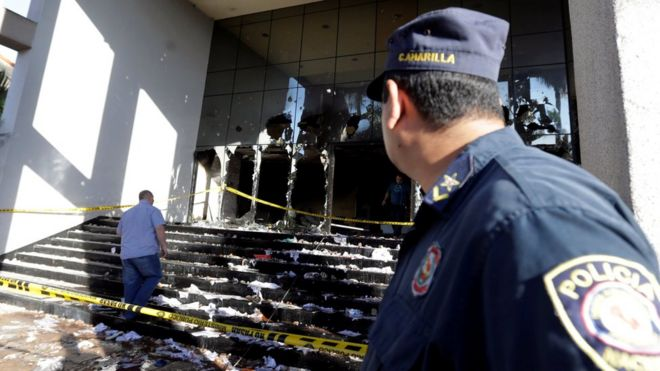 Congreso de Paraguay un día después del ataque.