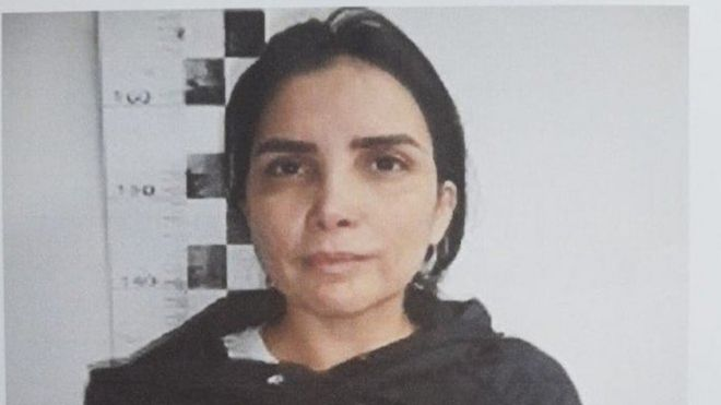 Photo of Aída Merlano released by the Colombian prison service Inpec