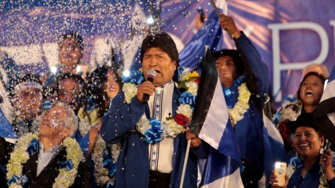 Evo Morales em campanha