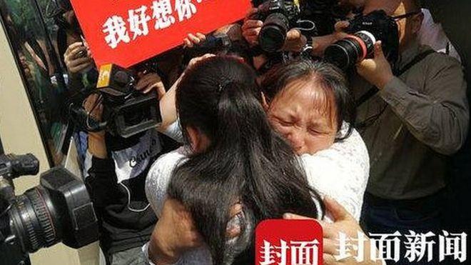 Kang Ying y su madre Liu Dengying