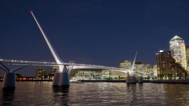 River Thames cycle and pedestrian bridge plan dropped - BBC News
