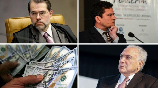 Toffoli; Moro;. dólares e Michel Temer