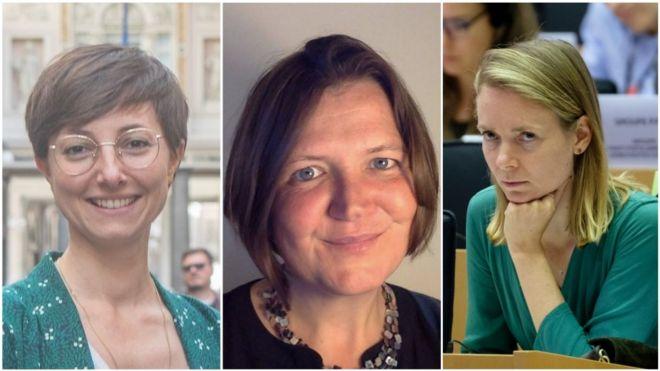 Từ trái: Nghị sĩ Saskia Brichmont, Ellie Chowns và Anna Cavanizzi