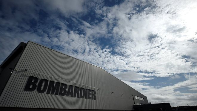 Bombardier factory in Belfast