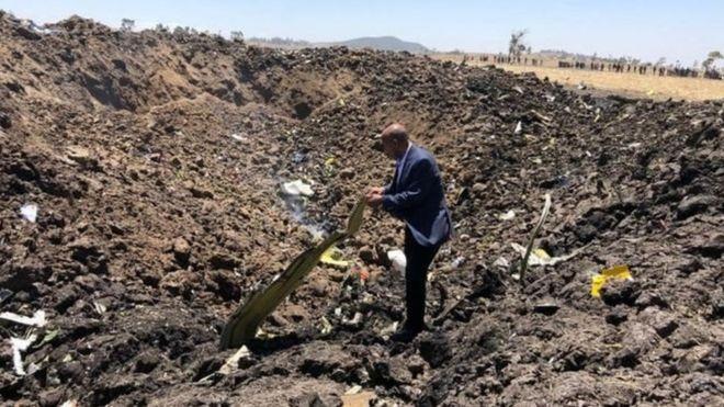 رئیس شرکت هوایی اتیوپی در محل سقوط