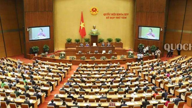 Quang cảnh phiên khai mạc kỳ họp thứ 8 Quốc hội VN khóa XIV