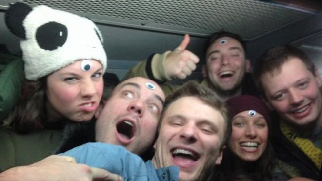 Otto Warmbier và các thành viên đi cùng tới Bắc Hàn