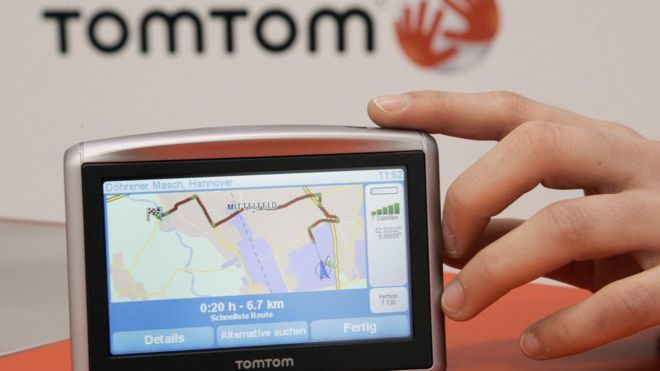 TomTom ditches map updates for some sat-navs - BBC News