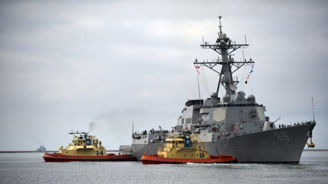 Khu trục hạm USS Prebble của Mỹ