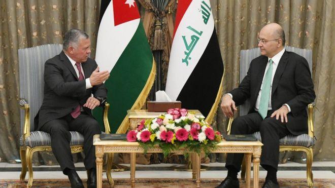 عبد الله الثاني ملك الأردن يزور العراق لأول مرة منذ عشر سنوات