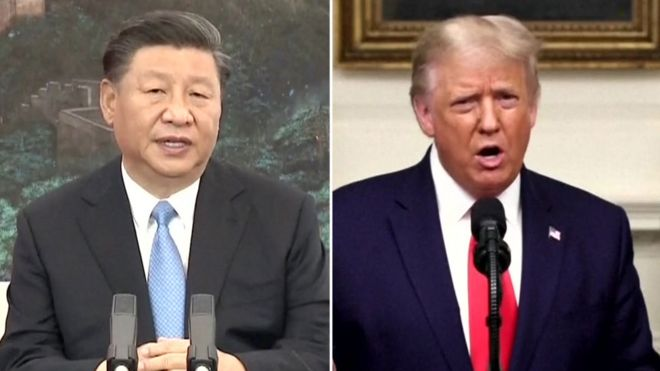 Xi Jinping and Donald Trump, shown in a composite image