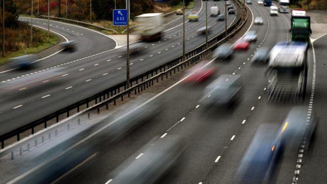 Движение на автомагистрали