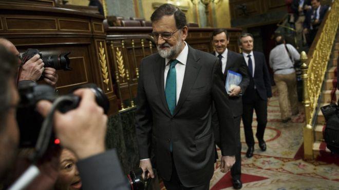 Mariano Rajoy, en el Congreso de los Diputados.
