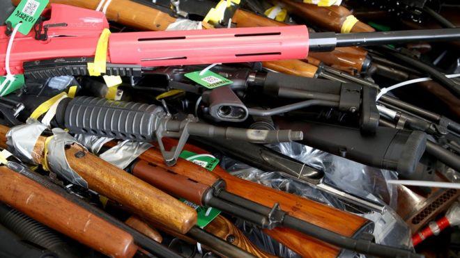 Guns handed in by New Zealanders
