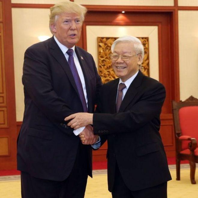 Trump và Nguyễn Phú Trọng