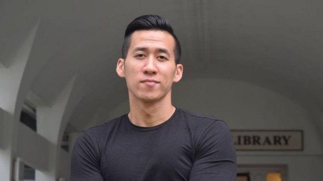 Will Nguyễn, 32 tuổi, người Mỹ gốc Việt có mặt tại cuộc biểu tình ở TP HCM hôm 10/6Bản quyền hình ảnhMEGHA JANAKIRAMAN