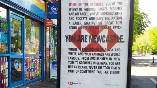 HSBC poster mixes up Nottingham and Newcastle - BBC News