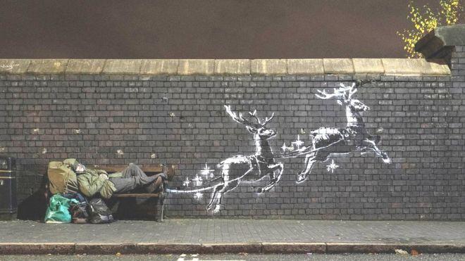 The Banksy artwork