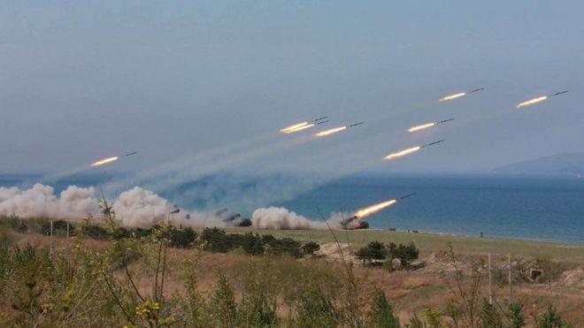 Taifa la Korea kaskazini limekuwa likitoa picha kuhusu zoezi la kijeshi