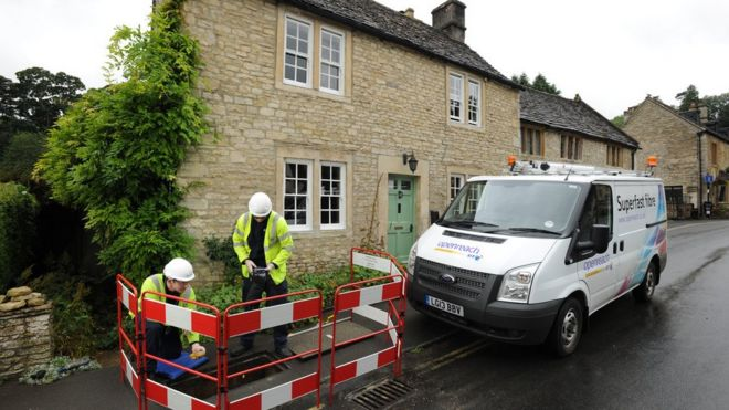 BT broadband engineers