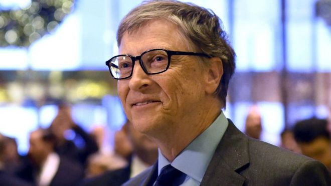 bill gates tops forbes rich list but trump s wealth slips bbc news
