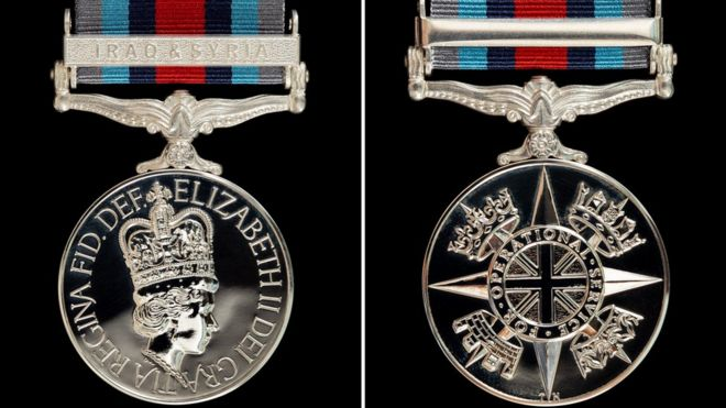 New operational service medal recognises fight against IS - BBC News