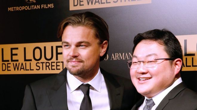 Actor Leonardo Dicaprio With Jho Low Right Of The Movie Attend The Photocall Before