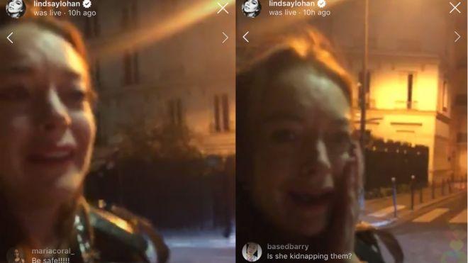 59b29b6f2 Lindsay Lohan under fire for  bizarre  Instagram video - BBC News
