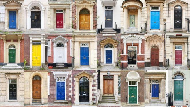 composite of doorways