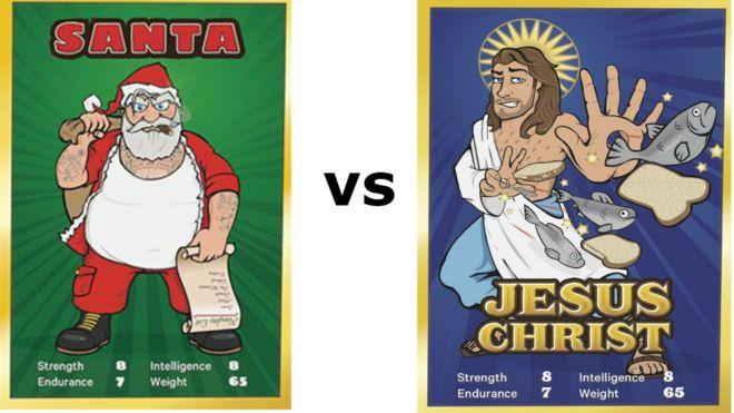 santa vs jesus board game blasphemous bbc news