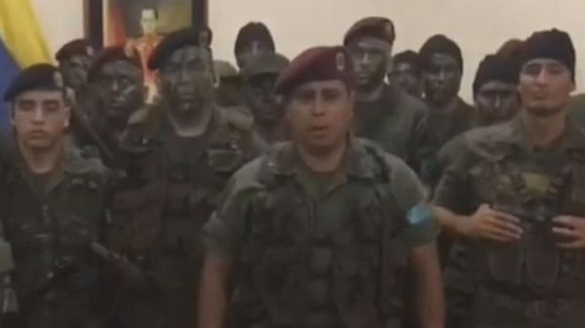 Military group in a video 6 August