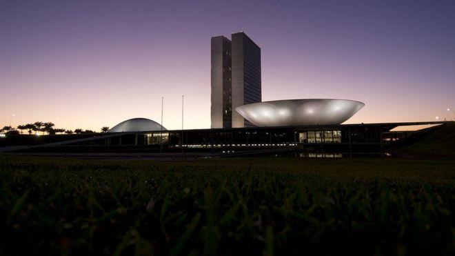 Congresso Nacional ao amanhecer
