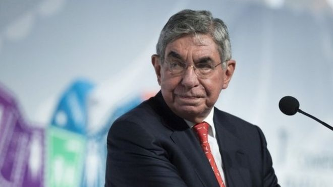 Óscar Arias, file photo