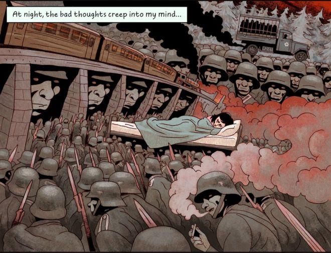 《漫画安妮日记》中的一页