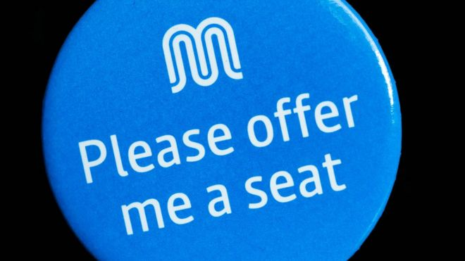 greater manchester introduces please offer me a seat badges bbc news