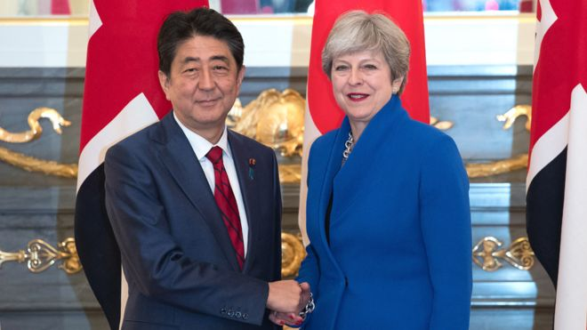 Brexit Japan Would Welcome Uk To Tpp Says Abe Bbc News