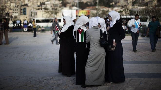 Women at a demonstration in Amman (file photo)