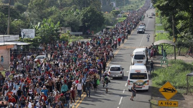 Caravana de migrantes rumo aos EUA